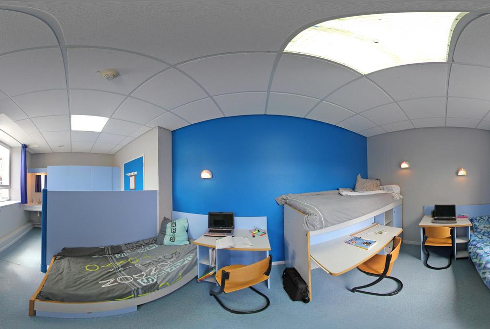 Une chambre de l'internat au Lycée Grignard